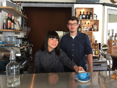 Baristas Emi and Mike